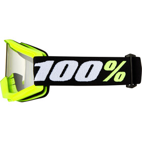 100% Strata Mini Anti Fog Clear Goggles Kinderen, yellow